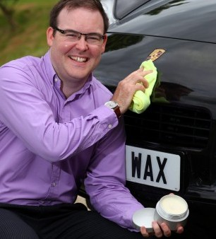 John Johnson whose company sells a £65,000 car wax
