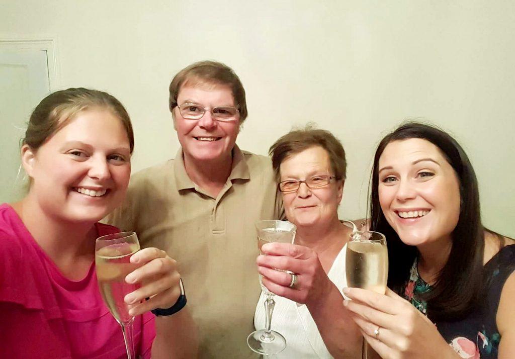 (L-R) Helen Lear, 30, Peter Kennedy, 65, Denise Kennedy, 64, Sarah Martin, 38.