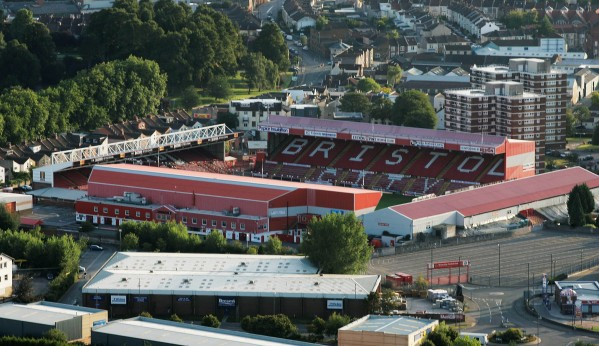 The Ashton Gate stadium, home of Bristol City football club, where standing areas are to be introduced