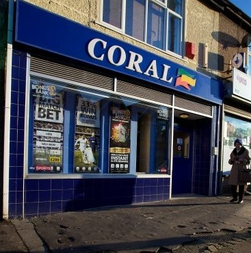 A Coral bookmakers similar to the one where a man scooped £90k with a 15p bet