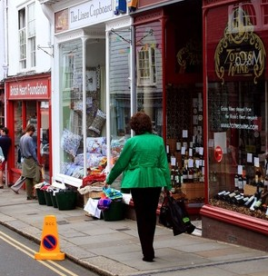 Totnes in Devon, where shopkeepers blocked plans for a Costa Coffee store but now its supporters are campaigning for the chain to open a store there