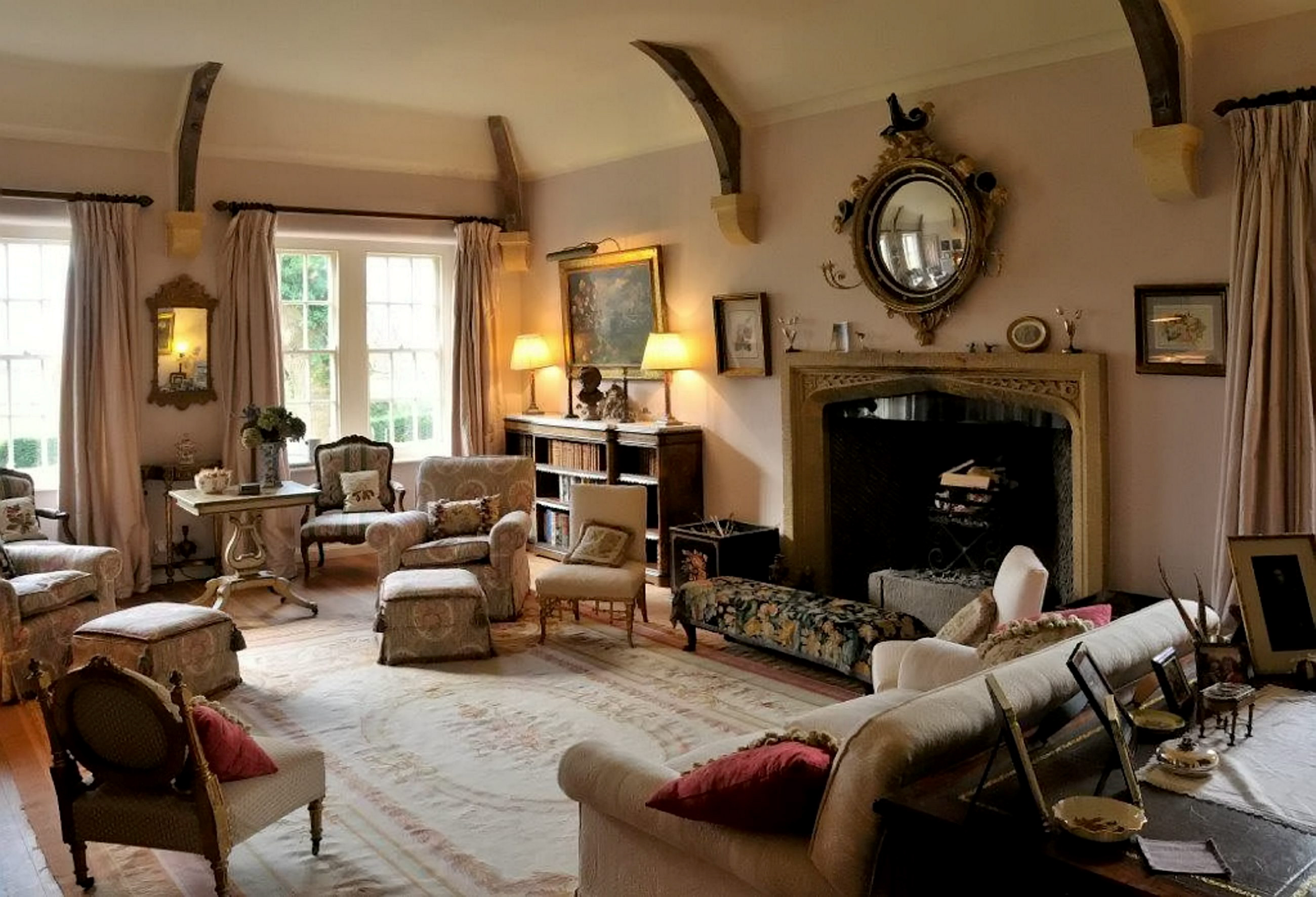 Inside the retired banker's country house... everything is being sold and is expected to fetch £300,00