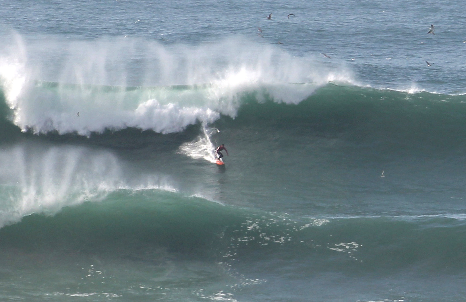 Professional Surfer Takes To The Waves To Ride Uk S Biggest