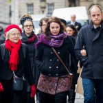 The family of Thomas Orchard arrive at Bristol Crown Court, Bristol (SWNS Group)