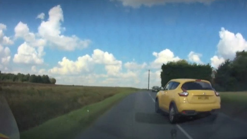 Dascam from Gerry Harrington, 56 who reported the dangerous overtake to the police.
