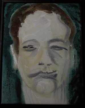 Another of the portraits which form part of the €˜D-Heads€™ series which Bowie painted prolifically during the 90s