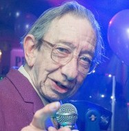 DJ Derek in action. He's now retiring at the age of 72