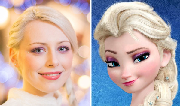 Alex Jenkins, 20, who is a lookalike for the character Elsa from the Disney film Frozen
