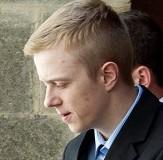Callum Evans leaves Taunton Crown Court in handcuffs