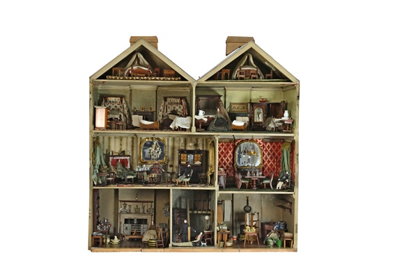 This Victorian doll's house built by a couple for their daughter in 1850 has been sold for £42,450 at an auction near Cheltenham