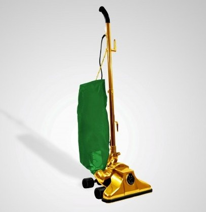 The world's most expensive Hoover, which has gone on sale for £800k. It is gold plated but the actual value of the metal is only around £17