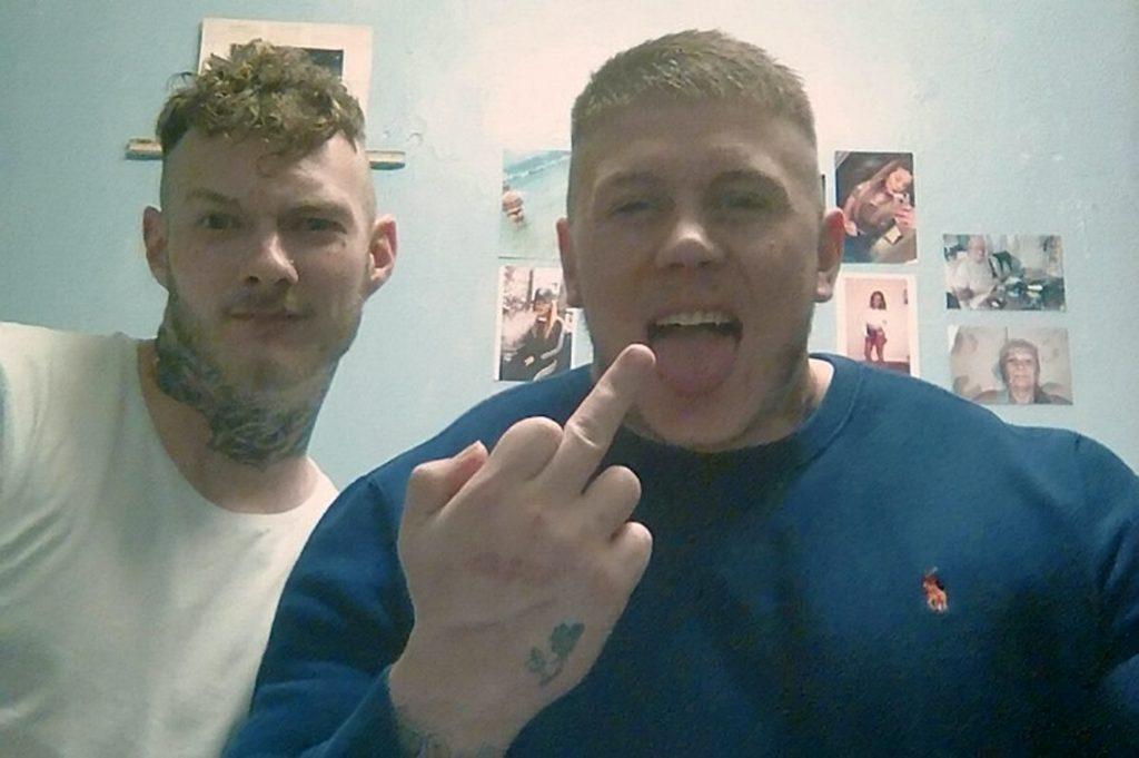 Martin Grant facebook post shows him smiling for prison selfies.