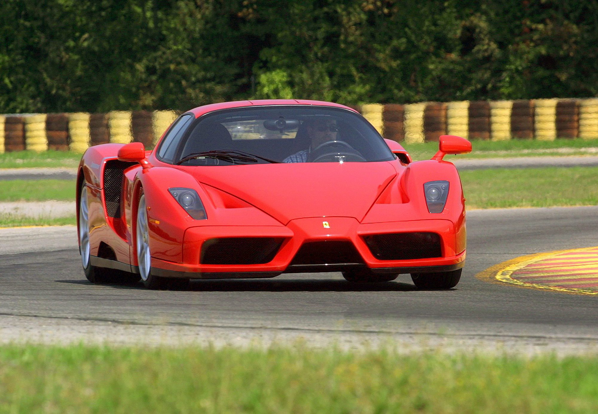 A Ferrari Enzo similar to the one owned by Jenson Button which is expected to sell for £1m