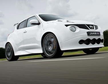 The Nissan Juke-R, which can do 0-60mph in just three seconds