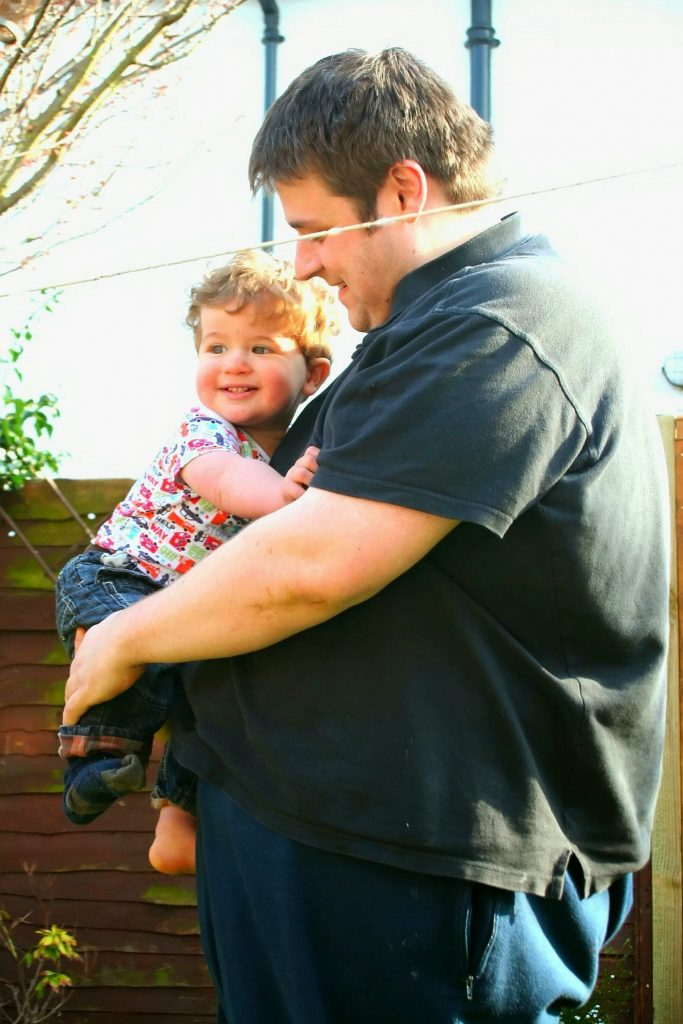 OBESE PARENTS Stock Photo: 83437364 - Alamy   Overweight Dad