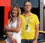 Google executive Benjamin Sloss wife Christine and his new £1.1m Ferrari