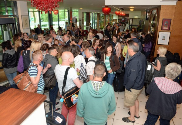 Passengers left stranded in Bristol after their flights were cancelled