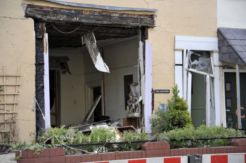 Explosion on Charles Street in Blackpool.