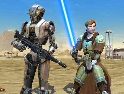 A shot from the Star Wars game 'Rise of the Hutt Cartell' which is set to include same sex relationships for the first time