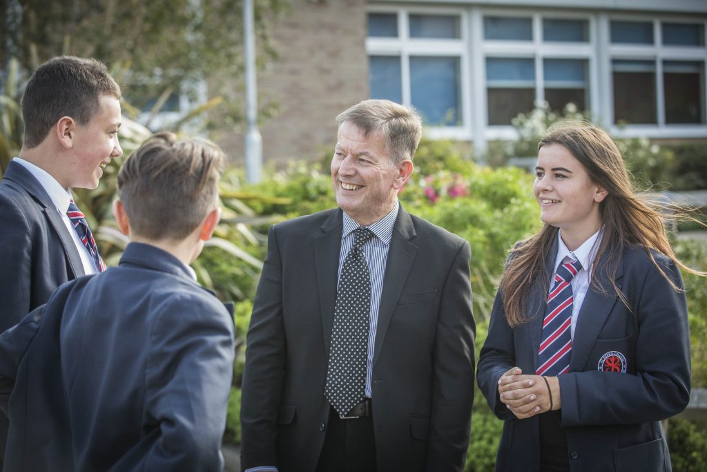 Head teacher Gary Maher at St Bede's Catholic College, Bristol.