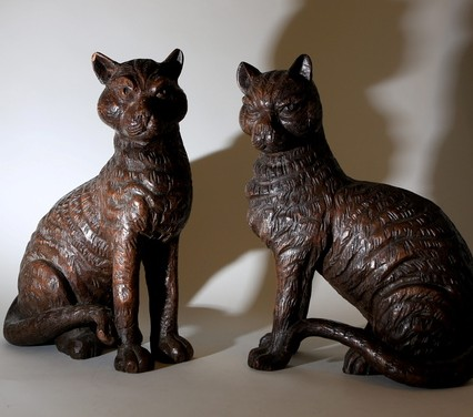 Two life-sized cats that look distinctly sinister, just like the man believed to have been their owner - Hitler's Luftwaffe commander Hermann Goering