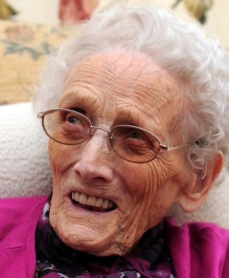 Molly Robertson celebrates her 100th birthday