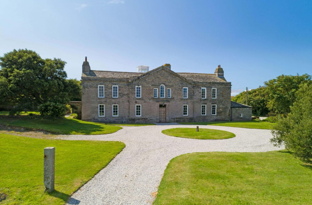 Harlyn House near Padstow, Cornwall,which is for sale at a list price £3 million.