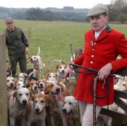 "Julian Barnfield, right, of the Heythrop Hunt, which has been banned from operating on National Trust land - after it admitted ""repeated and gratuitous"" breaches of the law"