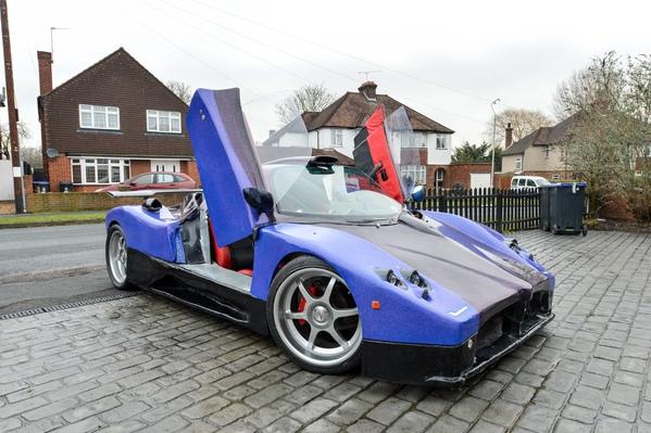 Nick Truman's home made Pagani Zonda which began life as an £89 used Jaguar engine