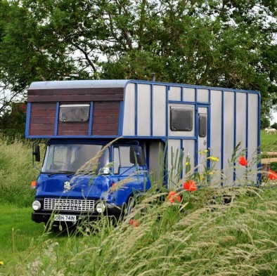 The horsebox which has been converted into a HOTEL