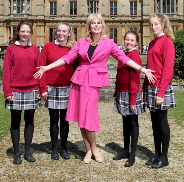 Actress Joanna Lumley before her speech to the pupils at Westonbirt School in Tetbury, Gloucestershire