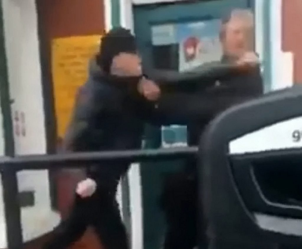 Footage show in court of the moment that Connor Stewart punches Michael Rhodes.