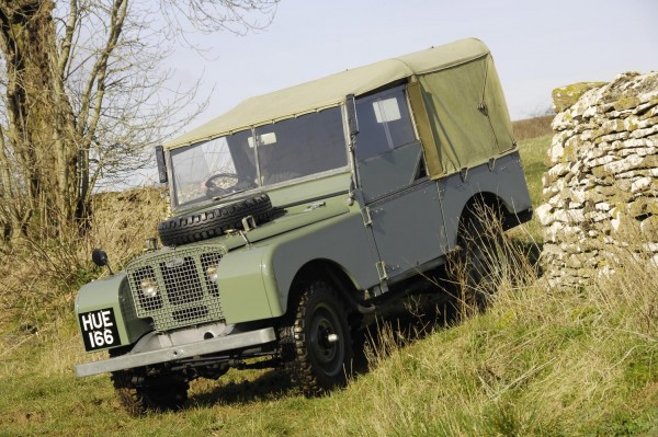 One of the first Land Rover Defenders. The iconic 4x4 will have its latest facelift