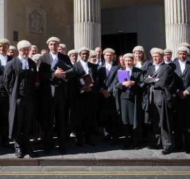 Dozens of barristers walk out of Bristol Crown Court in a protest over legal aid cuts
