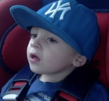 Levi Brailsford in the car seat from which he unbuckled himself and opened the door and died in an accident