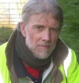 Anti-litter campaigner Simon Owens who collected two bin bags of junk from the motorway