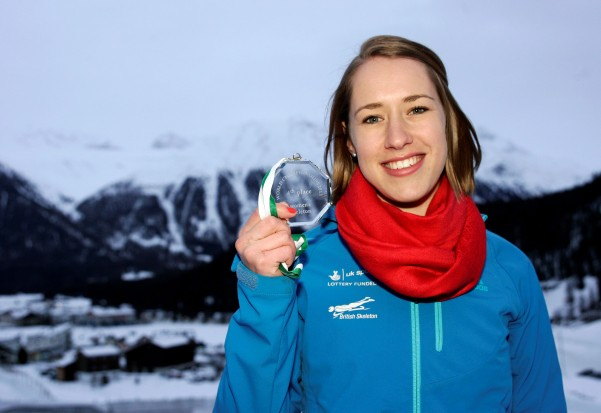 Britain's Winter Olympics Skeleton athlete Lizzy Yarnold. The Winter contest produces some stunning events