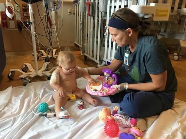 Maddie recovering in hospital