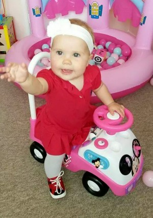 Harmonie-Rose Allen before she lost her limbs to meningitis