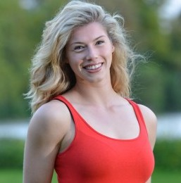 Stunning 6ft Blonde Ashley Crane, 22, who will compete in Miss England after an injury ruined her rugby career