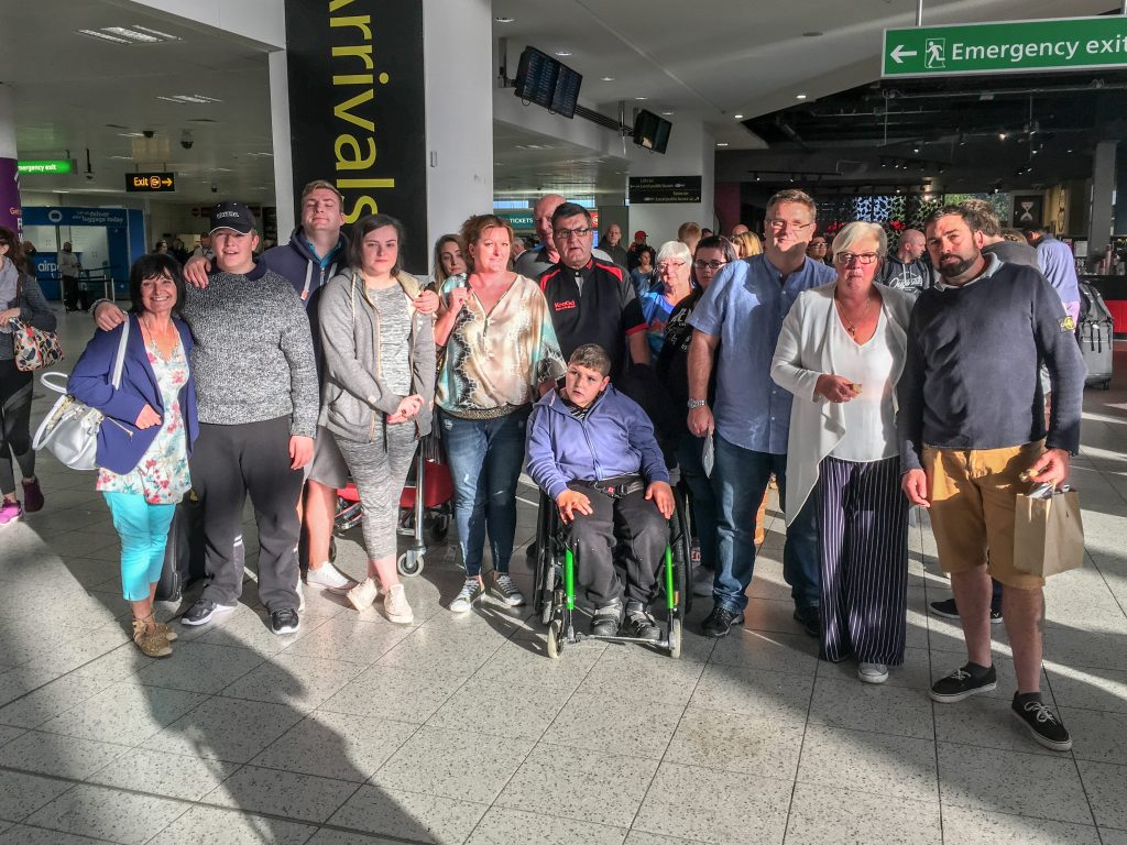 Fourteen members of the Jee family attending the wedding of Alan Jee (RIGHT) who have been left stranded at Gatwick airport due to the closure of the airline Monarch.