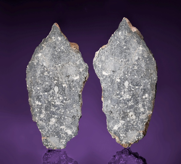 The moon rock found in Libya which has was the largest ever offered and has sold at auction for £200,000