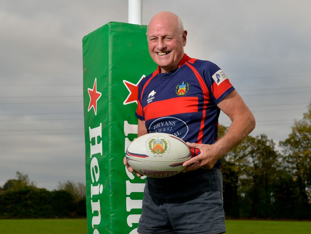 Stephen Yiend from Cheltenham is still playing competitive rugby for the Cheltenham Civil Service, despite being 67 years old.