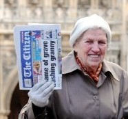 Beryl Walker has been crowned Britain's oldest papergirl aged 88