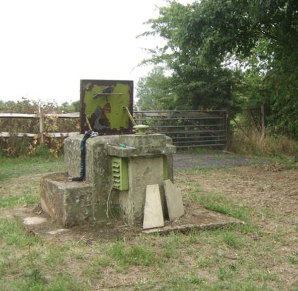 The exterior of the bunker exactly how it was left by soldiers of the Rotal Observer Corps