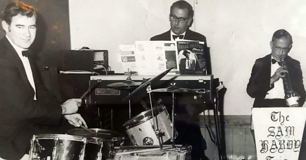 Ed Hardy with his band the Sam Hardy trio.
