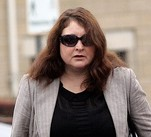 Karen Orchard arrives at Truro Crown Court in Cornwall