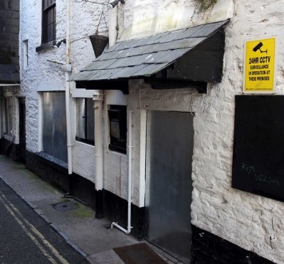 The grubby backstreet that customers were led to hoping to visit the spoof restaurant Oscar's