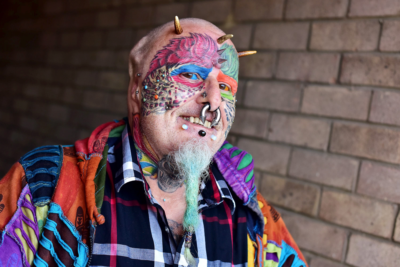 fully tattooed man