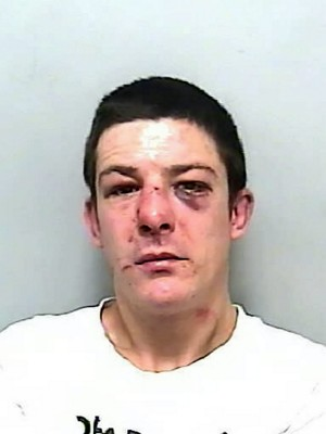 Sean Pinder, 34, who has been jailed for 12 months after he hit another man in the face with a snooker cue